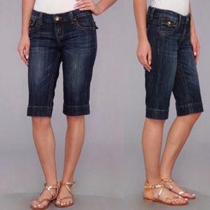 Kut from the Kloth Dark Denim Jean Bermuda Shorts